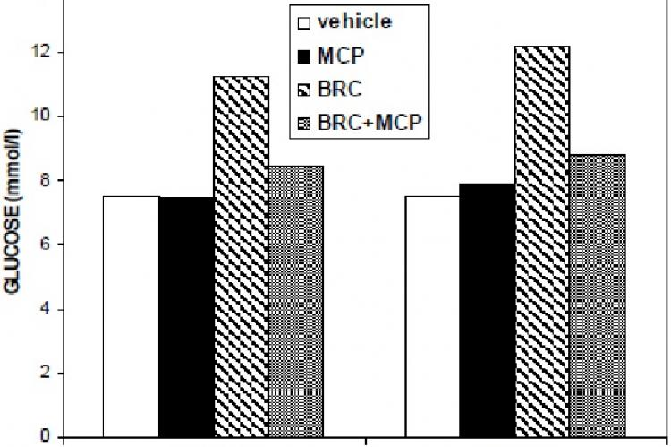 Specificity of the bromocriptine effect on glycemia in NOD females and males