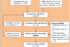 Flowchart of study selection following the PRISMA protocol